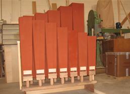restauro canne di legno di organi